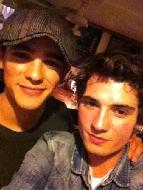 Brenton Thwaites and Jack Anderson 'chillin' in London.