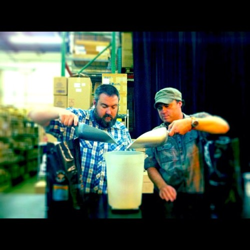 Mixing the first #Collabrewation Blend. @jshferg + @jasondominy (Taken with Instagram at Batdorf & Bronson Coffee Roasters)