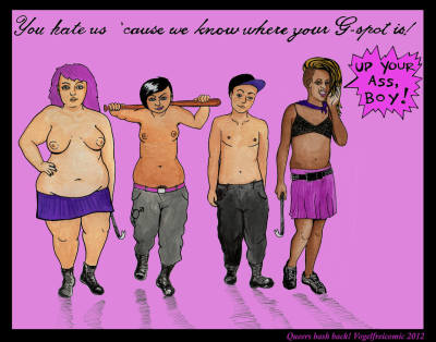 fatpeopleart:  queers bash back!