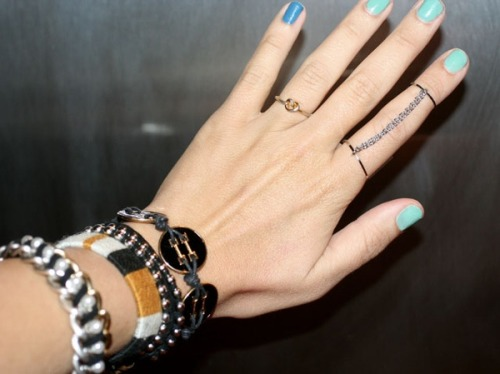 diy chain ring : ] cute idea! i've never actually seen one of these in stores but i like the idea, at least! click the image for the tutorial :D