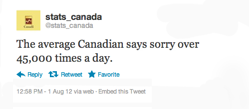 daisysnotebook:  tastefullyoffensive:  Canadian stats on Twitter[@stats_canada]  SO ME, even though I'm an American.