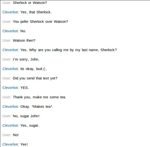I just RP'd with Cleverbot, and it was amazing.