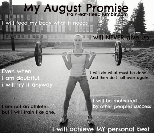 train-eat-sleep:  August Promise!!! Seriously love you guys….the Tumblr fitspo community is kick ASS! xoxox And just want to say HEY to all my new followers and don't be shy! I wanna hear from you all! Talk to me tumblebugs!