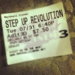 Was amazing!! #stepup #texas #movie #dance #dancer #dancing #la #summer #duh #tripplethreat #thearts #art #music #dubstep #themob #nyu #movies @austinvillegas  (Taken with Instagram)