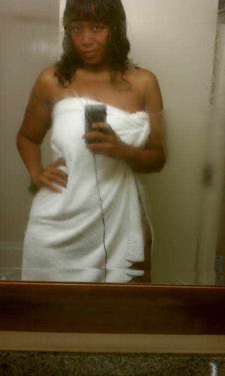 lifeofanappyheadedfatchic:  Hotel towels used to be useless to me…-134lbs.
