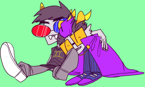 vunuv:   merprandom asked: hehe hi, can i request Eridan and Sollux cuddles :3 ? ((your art is awesome))  look at those fucking glasses