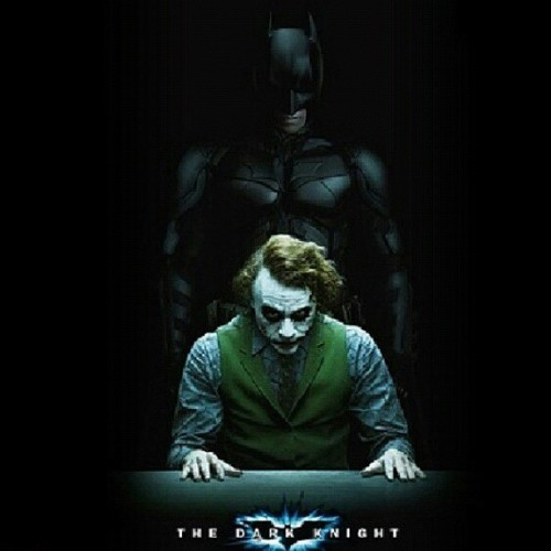 wildcardsmiseryphysiqueslegacy:  Epic Duo. #Batman #Joker #TheDarkKnight  (Taken with Instagram)
