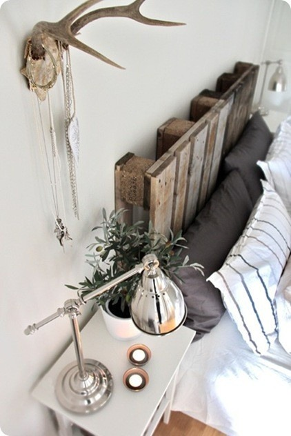 can't afford to get a new headboard? diy project! use an old crate!
