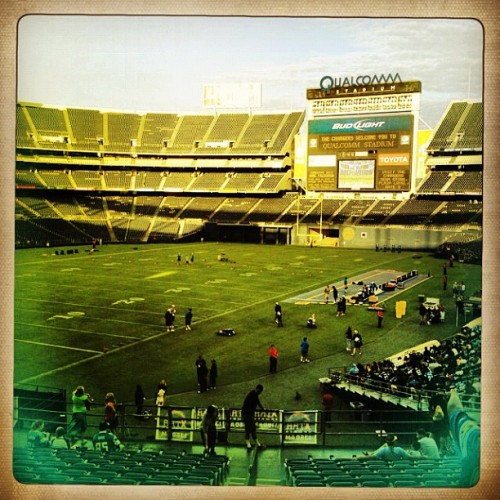 First look at the field this 2012 season!!  (Taken with Instagram at Qualcomm Stadium)