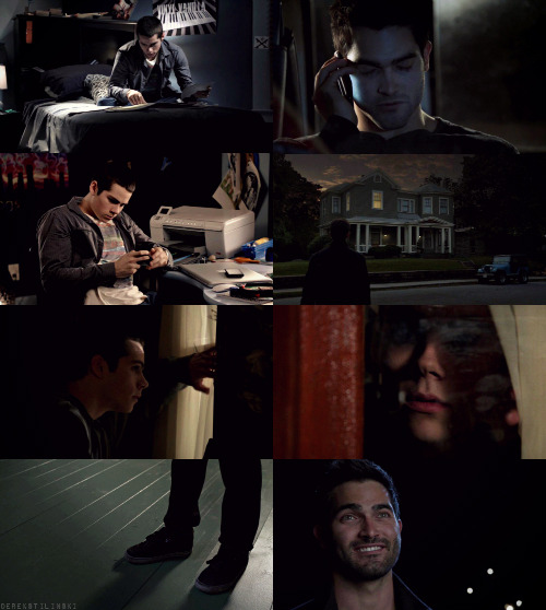 "derekstilinski:  Teen Wolf AU: Derek and Stiles have been seeing each other secretly, sneaking around at night so both of their packs don't know.  ""Scott said I smelt like you today."" ""Do you think maybe it's time to tell them?"""
