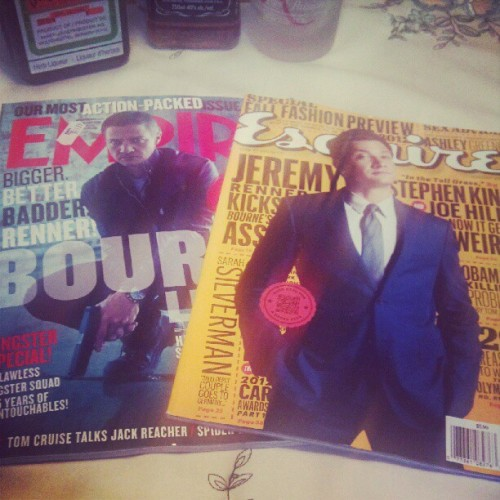 A happy #Renner fan is me! #esquire #empire (Taken with Instagram)
