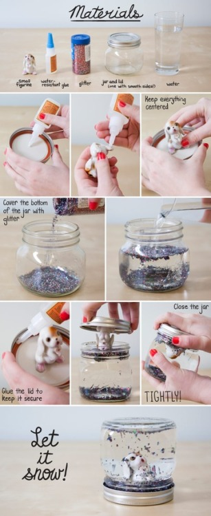 diy snow globe! click the image for the tutorial :]