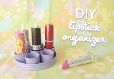 littlecraziness:  (via Scathingly Brilliant: Lipstick organizer DIY)