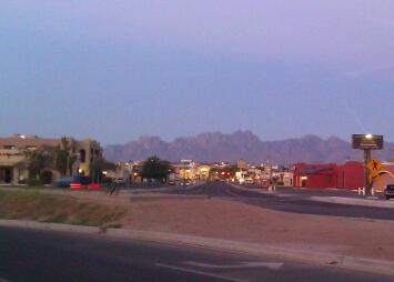 Half way thru my short run…I went outside, lol. Las cruces, NM