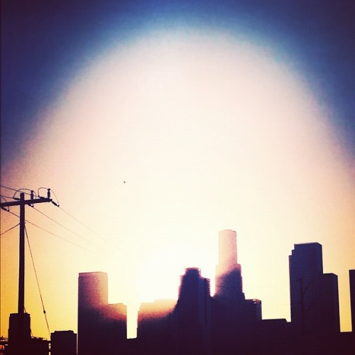 #dtla #sunset gratuitous (Taken with Instagram at Arts District  - City of Los Angeles)