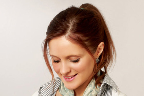 Side Part Ponytail Dress up your ponytail by adding a deep side part! This 2012 trend takes the simple hairstyle from day to evening. This sleek look has been seen on runways and red carpets, worn by Mila Kunis, Lauren Conrad, and Lucy Liu. The ponytail can be worn high or low and looks great with bangs. For some more variations, check out these ponytail hairstyle ideas.