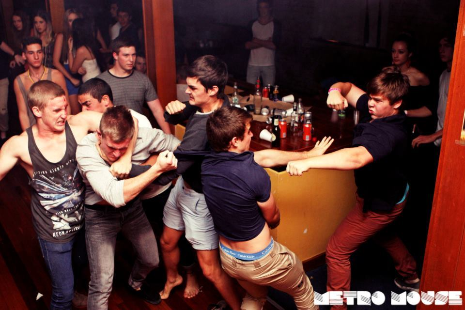night club fight. testosterone and alcohol, makes for a good spectacle :)
