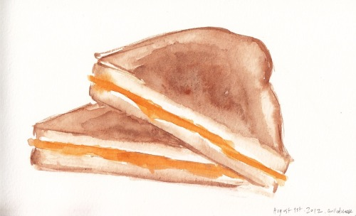 August 1st, 2012. Let us talk about grilled cheese. I am a pretty health conscious human being and for the most part I eat really well, even whilst on a budget. May I just say, however, that grilled cheese is SIMPLY delicious and satisfying and lovely and comforting and the BEST, always (and I had it for dinner and it was wonderful, the end).