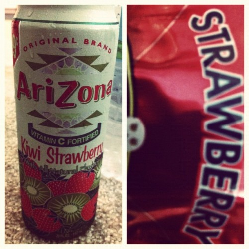 Studying for a cert test. Strawberry Kinda night. Glad I found this drank! :)#picstitch #arizona #drink #strawberry #strawberrykiwi #study #chill #pines #californacating #bird #peekabo #lol   (Taken with Instagram)
