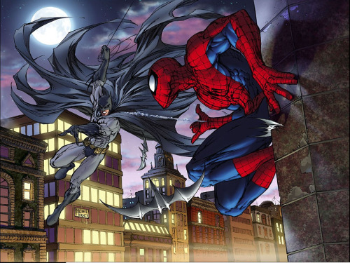 Batman Vs Spiderman by Michael Turner