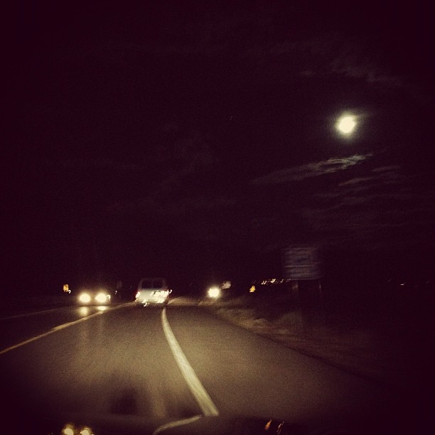 #Night #drive #nightscape #landscape  (Taken with Instagram)