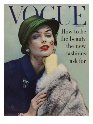 VOGUE COVER OF THE WEEK: September 15, 1956 featuring Lucinda Hollingsworth shot by Karen Radkai.