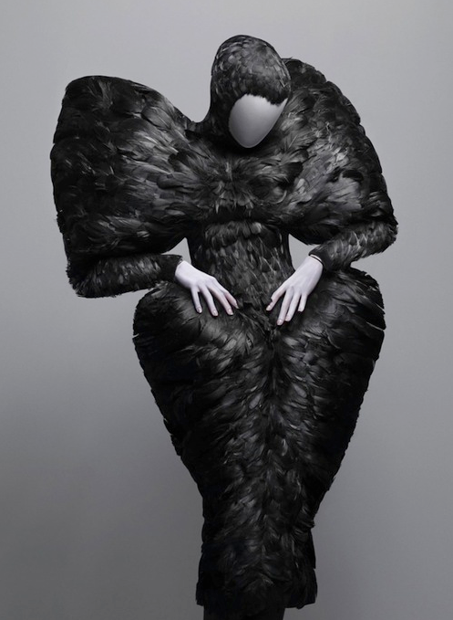 Black Duck Feather Dress by Alexander Mcqueen, Autumn 2009.