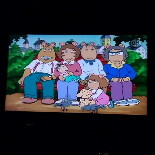 yea that's right I'm watching #Arthur #pbs #90s #childhood  (Taken with Instagram)