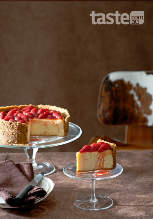 (Cheesecake; Photography by Alan Benson; Recipe by Liz Macri)