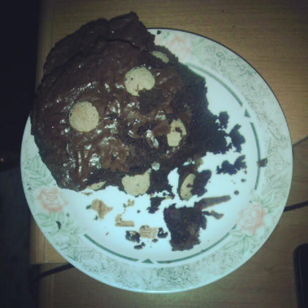 Brownie with Cookie Crisp cereal baked in. #yum (Taken with Instagram)