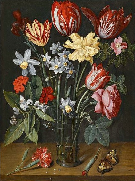 Jacob van Hulsdonck Still Life with Flowers 17th century