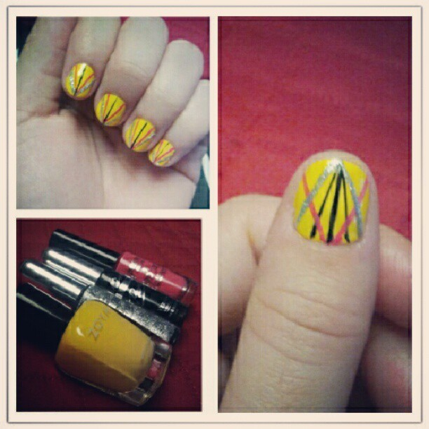 #nailart #nails #zoya #kissnailartpaint #jordanapopart (Taken with Instagram)