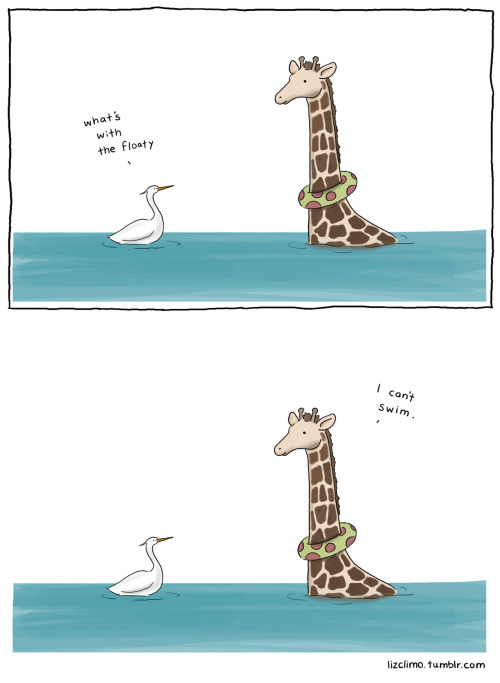 lizclimo:  sometimes giraffes can't swim