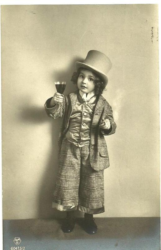maudelynn:  Adorable Little Boy in a Top Hat c.1912 Postcard