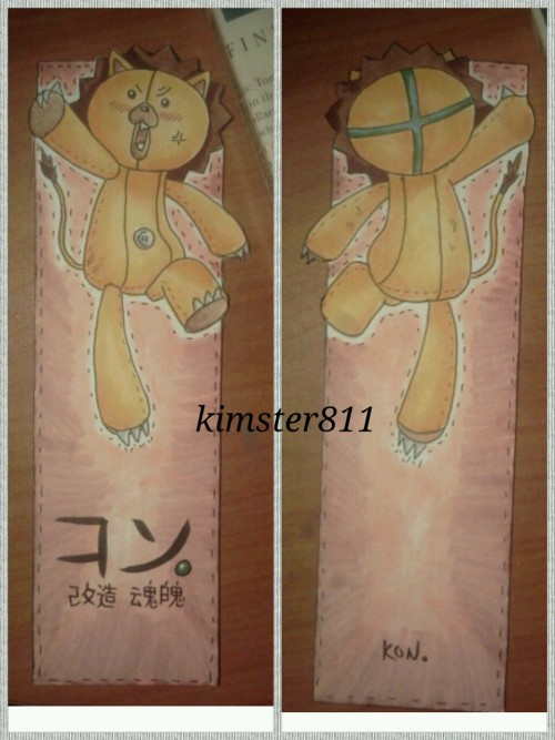 kimster811:  I made a bookmark for my sister XD Surprised she wanted Kon on it :0 Done in copic an ink.  that is so awesome and cute!  o u o