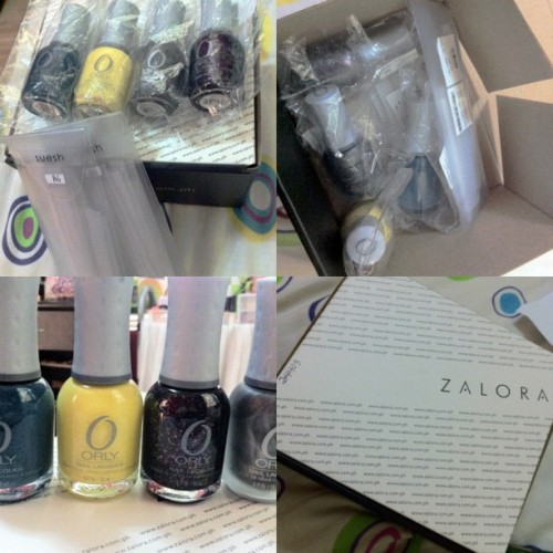 jazlewho:  Yay! They're here!! They made it!! My nailsies from @zaloraph #instacollage #nail #polish #orly #zalora #fashion #glitters #candycolors (Taken with Instagram)