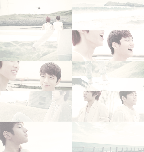 I'm not calling you a ghost, just stop haunting me. he was everywhere myungsoo went: in the clouds, in the ocean, in the rustling of trees and the sound of footsteps splashing through water. he was there when myungsoo dreamed, but myungsoo never saw his face. he was always turned away, sitting off on a hillside, standing beside him out of view. myungsoo couldn't forget him, but he couldn't quite remember him, either. it was like chasing a ghost.
