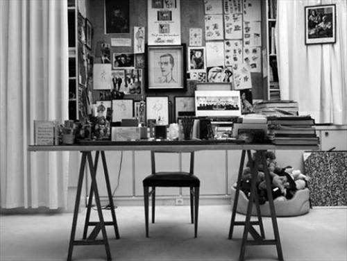 Yves Saint Laurent's Desk Photography by Hedi Slimane, 2008
