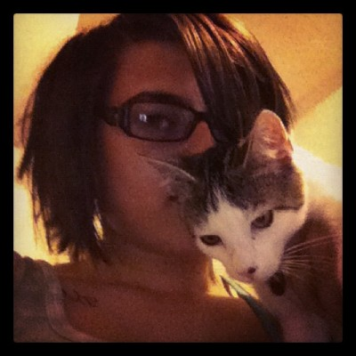 Me and my baby Yusuke! Souvh love for one little kitty (Taken with Instagram)