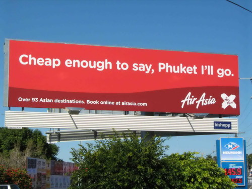Cheap enough to say, Phuket I'll go.