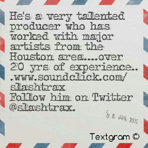 Super Producer Slashtrax (Taken with Instagram)