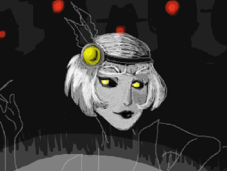 "WIP Tegaki art: Flapper GLaDOS and her Turret mob Oh look, you even get to see my lines. XD Believe it or not this and the last two pics were done on one layer with no undo button. Yes, I like to torture myself, but it's actually very good practice and I enjoy a challenge. Gotta admit music really has been driving these pieces lately, this one was especially inspired by the Metropolis (anime) soundtrack, it's got some really nice dark Jazzy vibes that invoke the era. One song in particular: Going to Zone, just sets this entire piece for me. Will be finishing this up along with a special gift for Ka-Star, let's just say involves a…""boy howdy"". ;)"