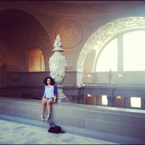 Me, myself and my #fro #CivicCenter #SF  (Taken with Instagram)