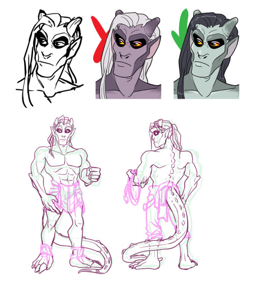 Some more roughs as I work on GARGOYLE MAN who now has a name! Bedrock, AKA Rocky, who is unfortunately named overall as there's only one man's voice who I can associate with saying Rocky over and over. I will give you a hint if you can't click YouTube links: it has nothing to do with a Rocky who boxes. I don't know that Bedrock has anything in common with any other Rockys (Rockies? Eh?) at all, though. I want to fix the left (our right) arm on the front view to be posed a bit…smarter?? I don't know. So..! SOON.