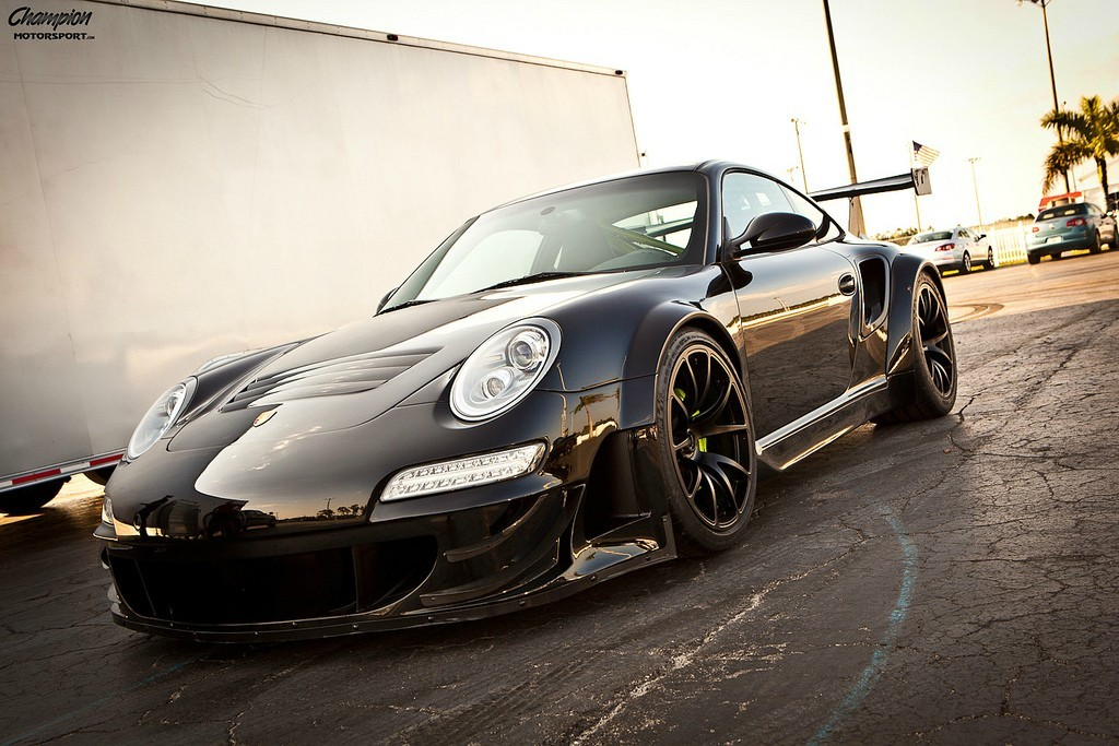 Porsche 911 Turbo with an RSR body. #ThereGoMyPants Read about how they accomplished this here: http://www.caranddriver.com/reviews/champion-motorsport-porsche-911-turbo-rsr-specialty-file