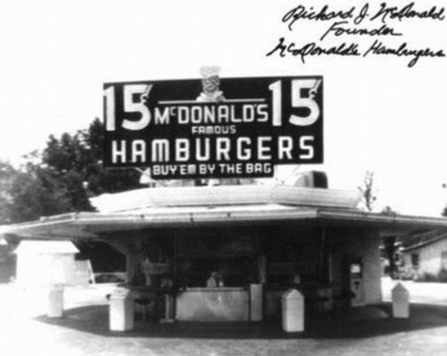 The first McDonald's.