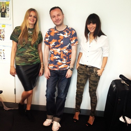 The Grazia team get camo cool  (Taken with Instagram)