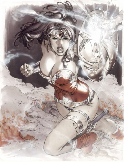 lulubonanza:  battle wonder woman by ~ebas  By far one of the best looking brute forces in comic books