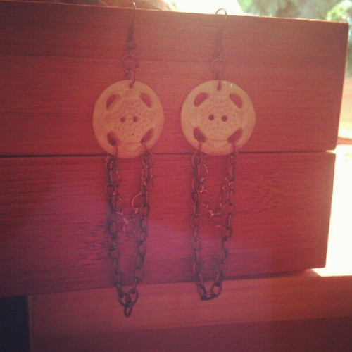 Vintage buttons, copper accents. #jewelry #art #design  (Taken with Instagram)