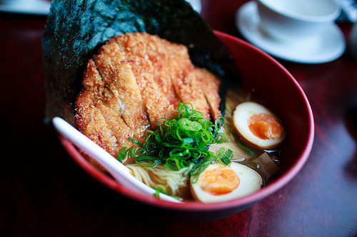 wait i can put my katsu in my ramen this can't be life